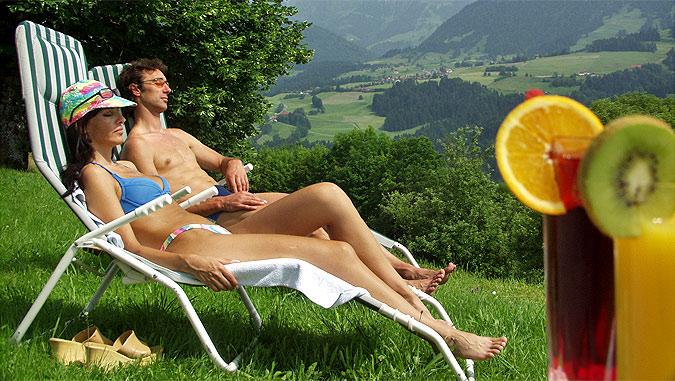 Hotel Berghof am Paradies Ausblick