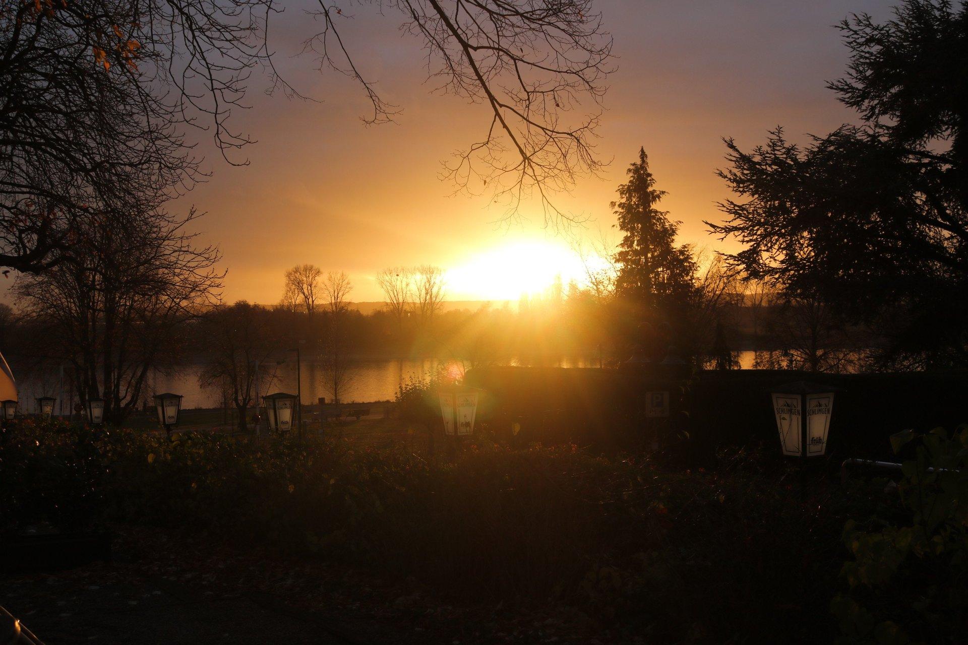 Bikertreff Schlimgen Sonnenuntergang