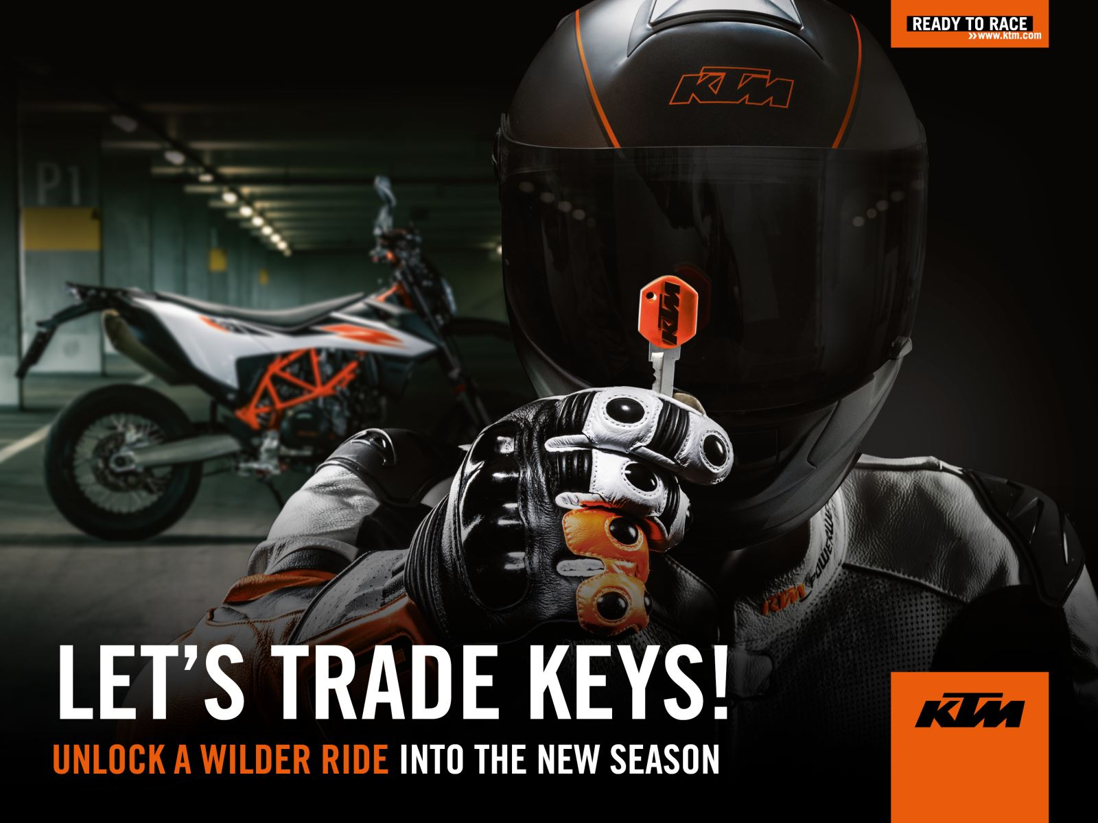 KTM Let's Trade Keys Header